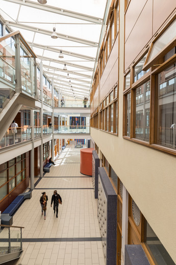 View from the first floor of the Chemical and Biological Sciences Building in UCD, Dublin