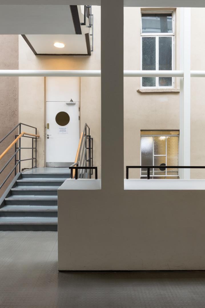 Internal atrium of O'Reilly Institute at Trinity College, Dublin