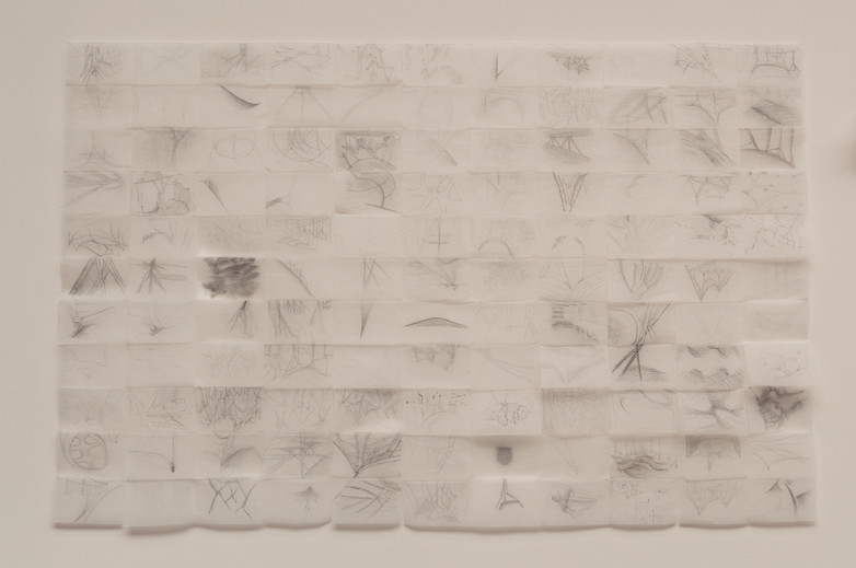 Sketches by Tom DePaor of the work of Giovanni Michelucci at the Venice Biennale 2018