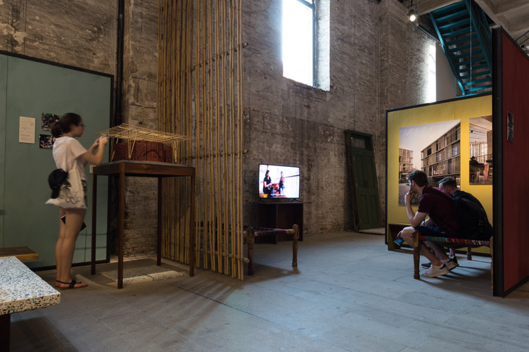Photos, models and video on display at the pavilion designed by Case Design at the Venice Biennale 2018