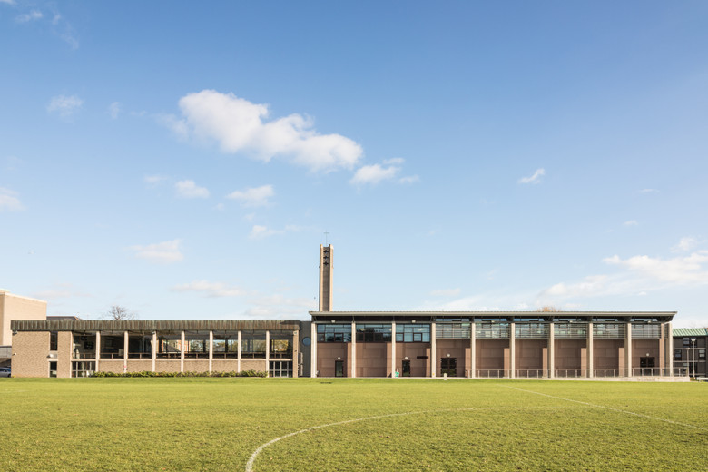Exterior of sports hall of St.Pats, DCU campus, Dublin