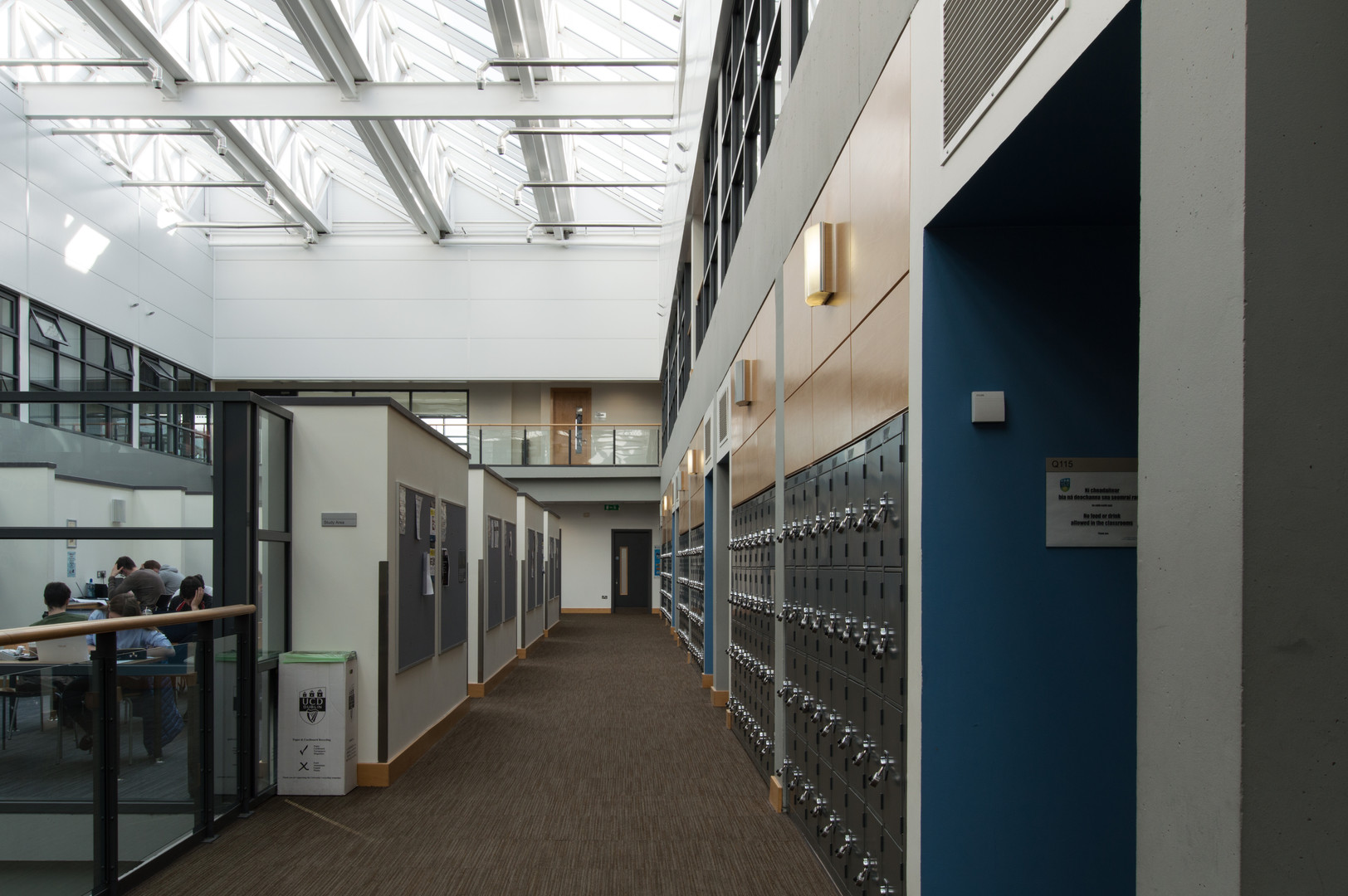 First floor of the interior atrium of the Quinn School of Business, UCD, Dublin