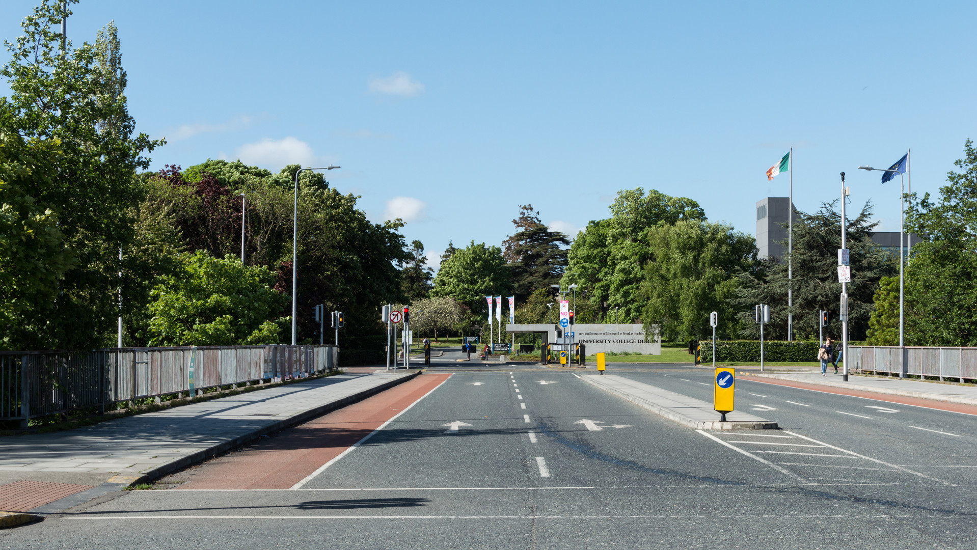 Entrance from bridge to UCD campus, Dublin