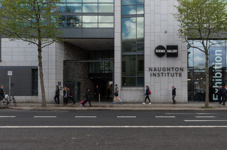 Exterior entrance to the Naughton Institute, Trinity College, Dublin