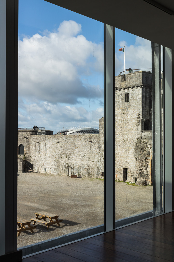 View from interior to courtyard of King John's Castle, Limerick