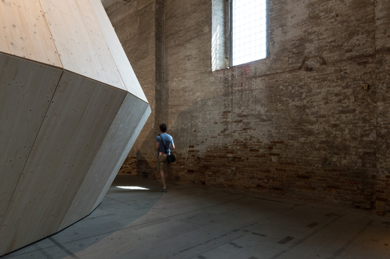 A timber pavilion designed by Mario Botta Architetti at the Venice Biennale 2018