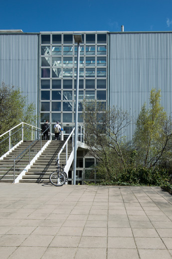 Steps leading to the entrance of the Engineering Building in UCD, Dublin