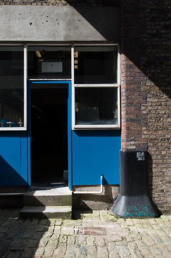 Blue doorway in NCAD campus, Dublin