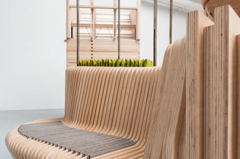 Bench as part of pavilion by Bucholz McEvoy Architects at the Venice Biennale 2018