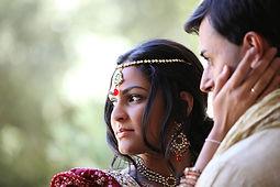 Noiva indiana e do noivo