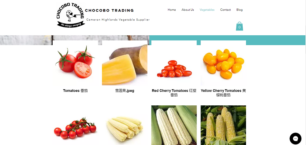 More than 60 types of fresh vegetables- Chocobo Trading