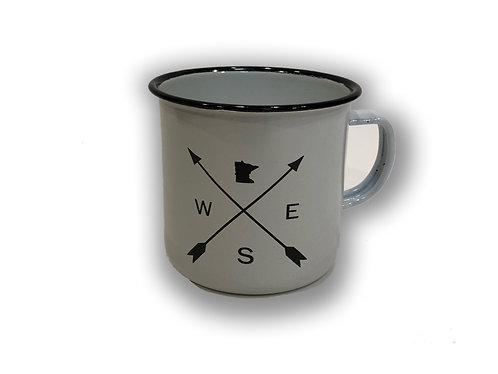 MN Compass Enamel Camp Cup