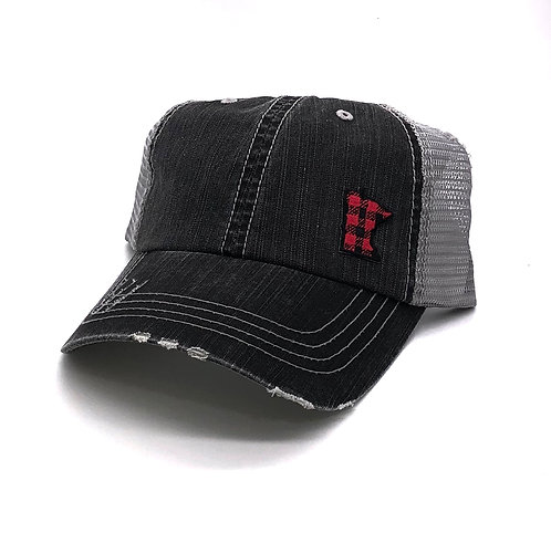 Buffalo Plaid MN Distressed Hat