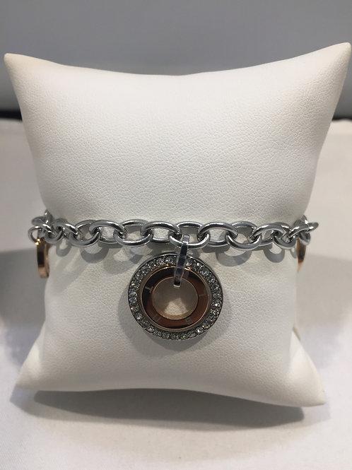 Bracelet chaîne breloques anneaux