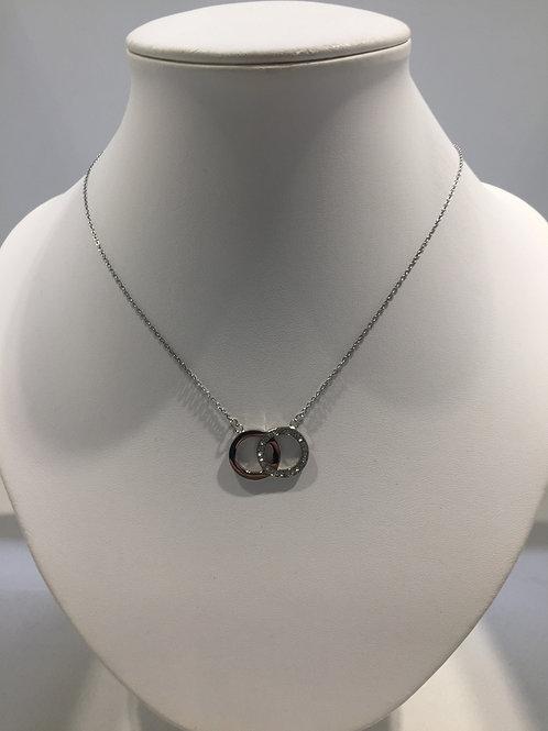 Collier chaîne en acier double anneau