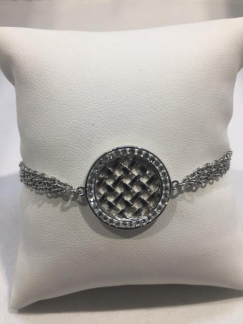 Bracelet mailles anneau treillis