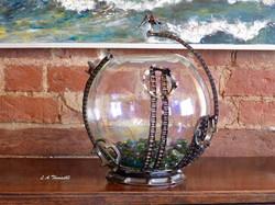 Large Goldfish bowl with Bird