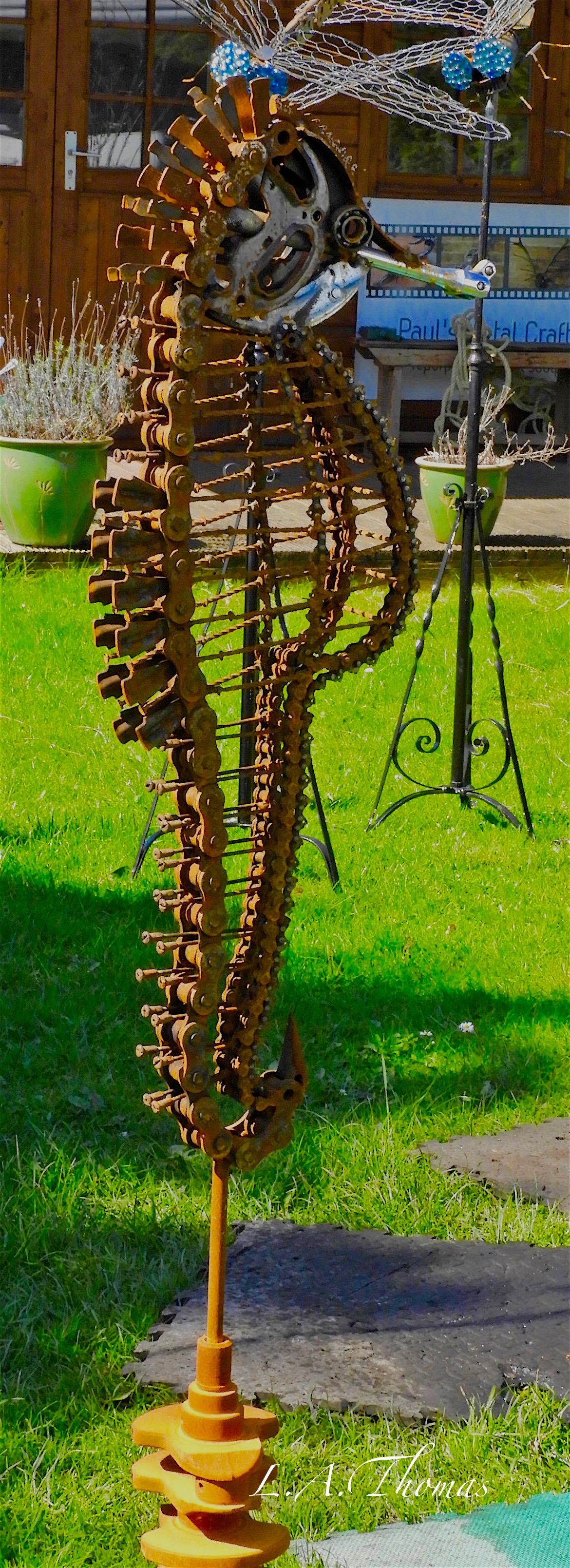 Large Garden Seahorse