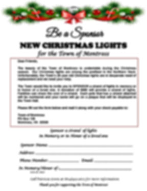 Christmas Lights.Sponsorship Application