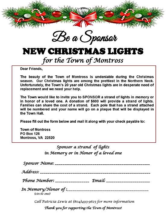 Christmas Lights.Sponsorship Application