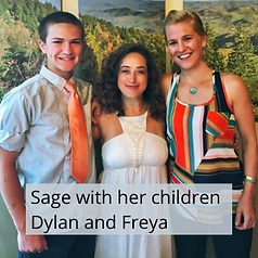 Sage with her children Dylan and Freya.p