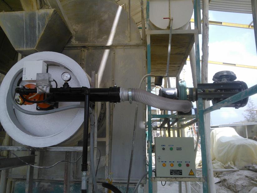 Conversión horno secador caolín