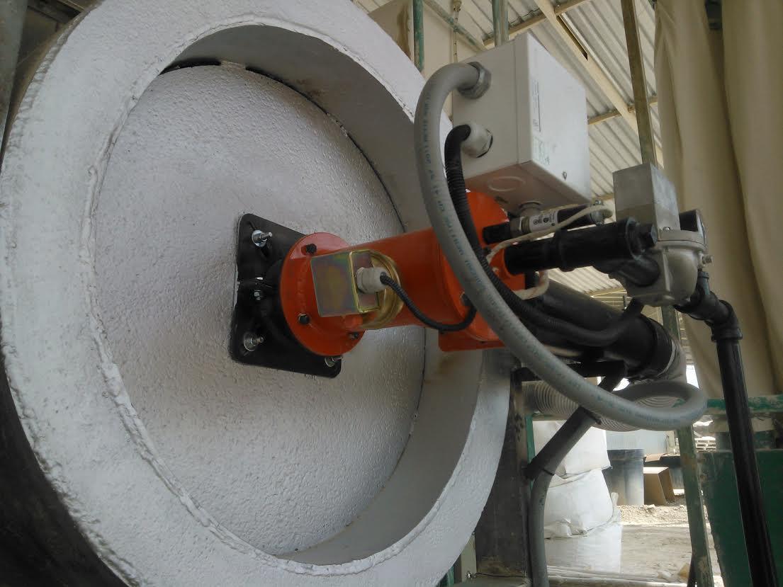Horno secador caolín