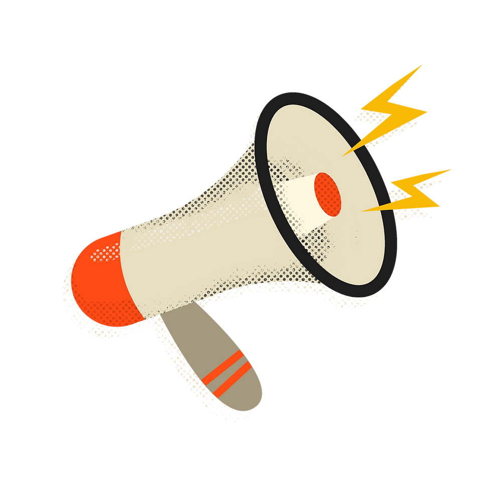 call to action megaphone illustration