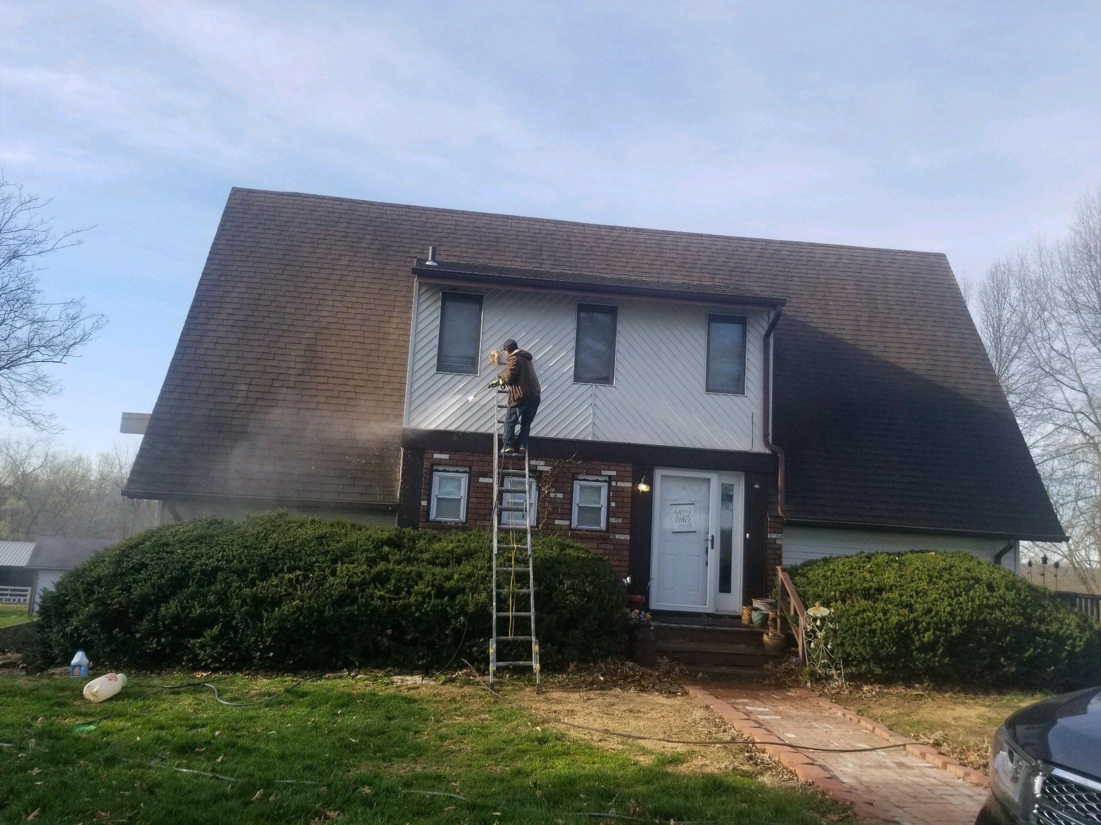 Powerwashing Metal Siding