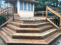 Stained Deck Stairs