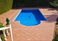 Pool area before renovation