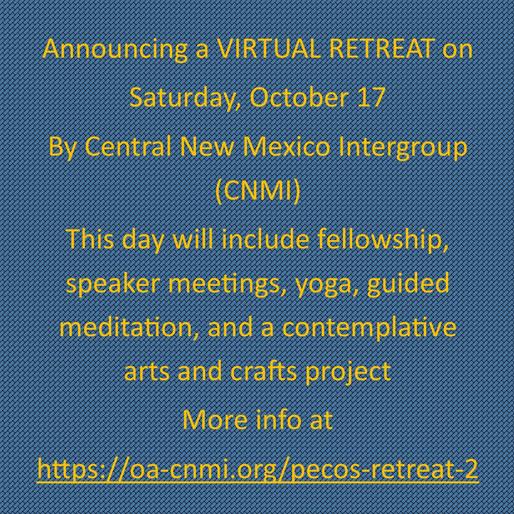 Virtual Retreat Oct 17, 2020