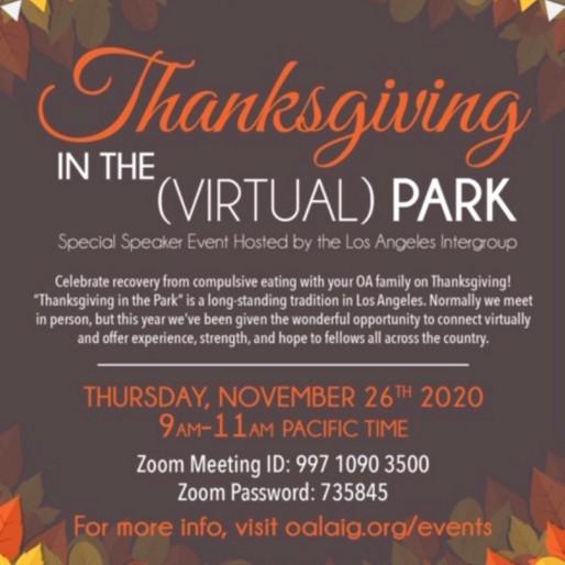 Thanksgiving Speaker Event on Zoom