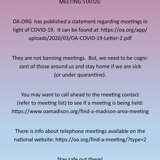 Meeting status
