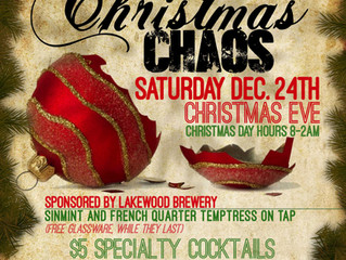 Leave the chaos for some good beer & great company, all for a good cause.