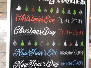 Christmas & New Years Hours