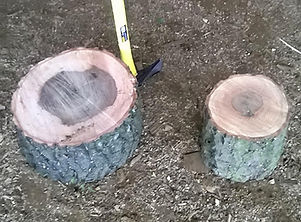 chopping block, hardwood, firewood logs