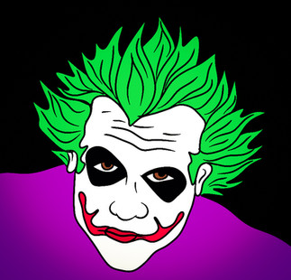 Joker sketch in colour