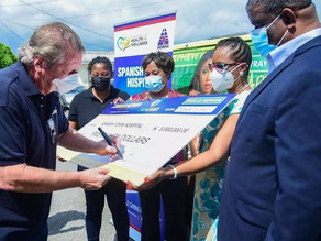 KPH & Spanish Town Hospital Receive $5Million Each From JWN Cares
