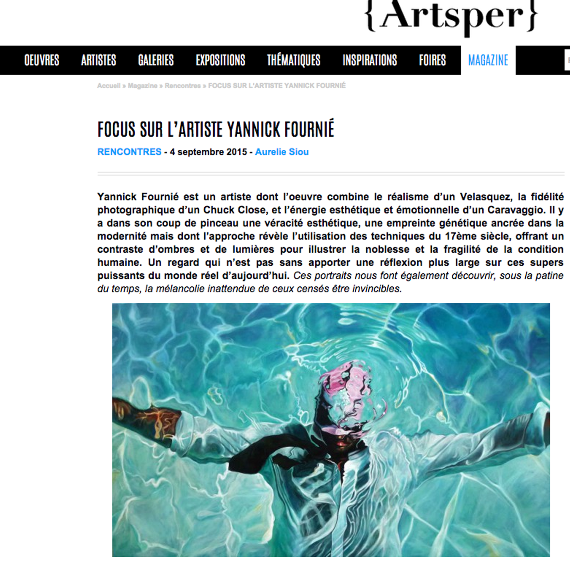 ARTSPER / France / Septembre 2015