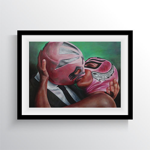"LITHOGRAPHIE  ""NEVER KISS"" 100 X 70 cm"
