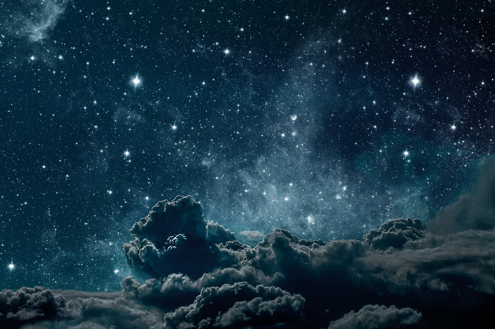backgrounds night sky with stars and moo