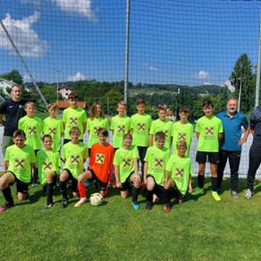 Toller Start der U14 & Tormanntrainer Heinz Schmied