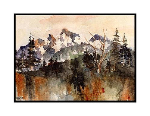 Watercolor Sunrise Park III Cards