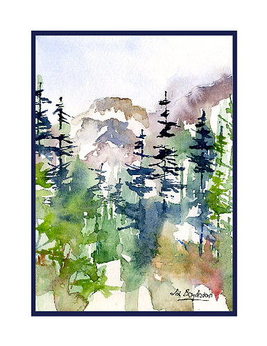 Watercolor Heather Meadow Cards