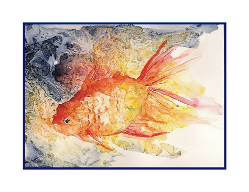 Watercolor Goldfish Note Cards