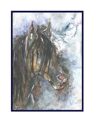 Arabian Horse Watercolor Note Cards