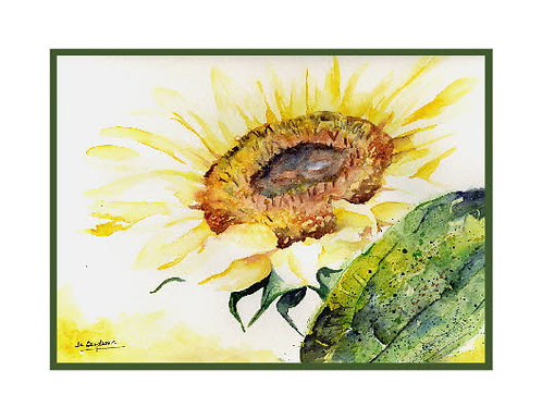 In the Light Sunflower Watercolor Cards