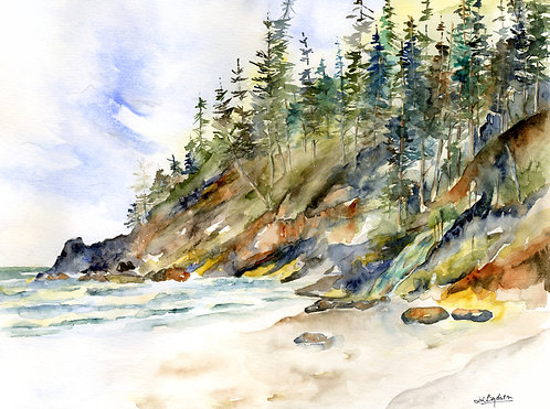 Oregon Coast Watercolor Giclee Print