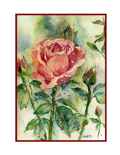 Kiss From a Rose Watercolor Cards